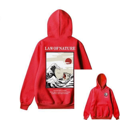 Hoodie LAW OF NATURE™ - Rouge / S