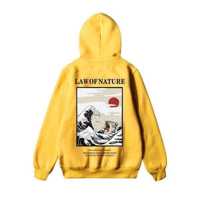 Hoodie LAW OF NATURE™ - Jaune / S