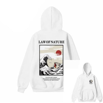 Hoodie LAW OF NATURE™ - Blanc / S