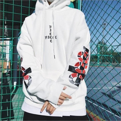 Hoodie POISON - blanc / S