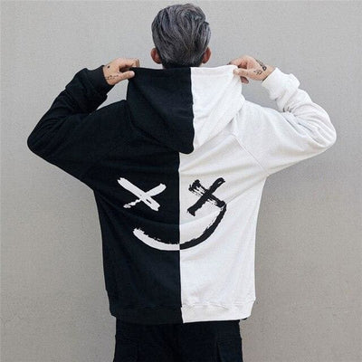 HOODIES SMILEY™ - Blanc / Noir / L