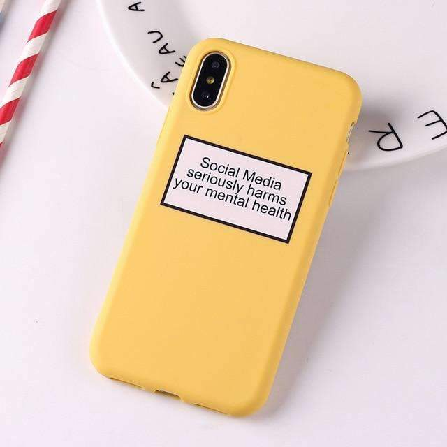 Coque Social Media jaune iPhone