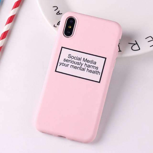 Coque Social Media rose iPhone