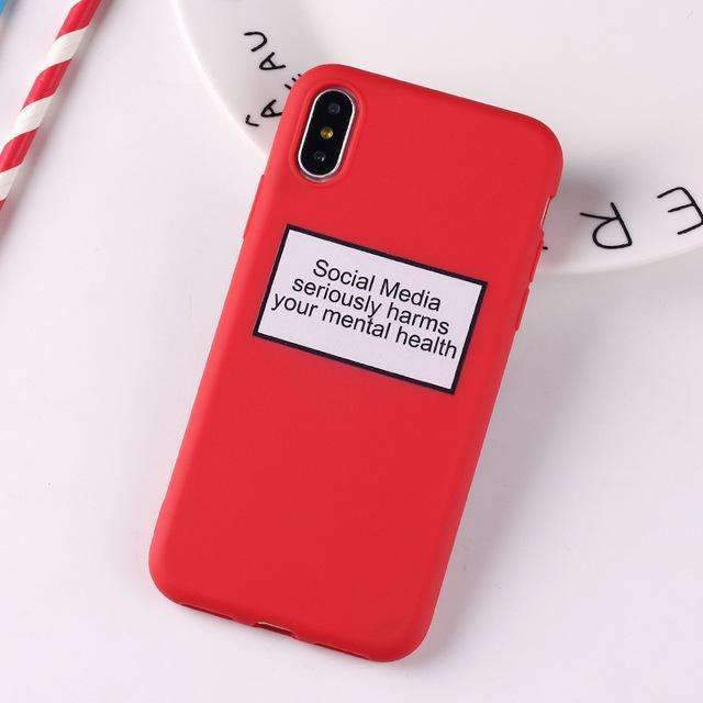 Coque Social Media rouge iPhone