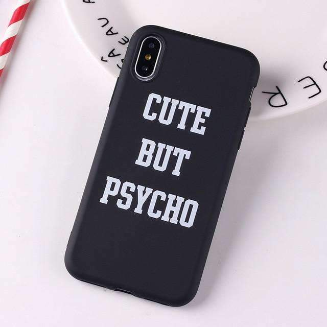 Coque Psycho noir iPhone