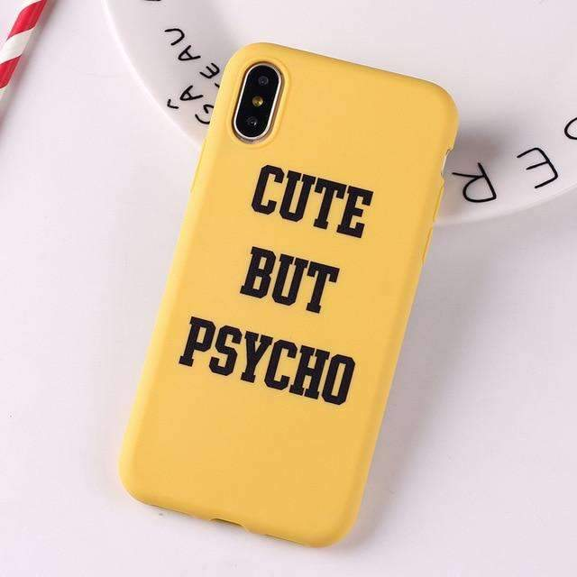 Coque Psycho jaune iPhone
