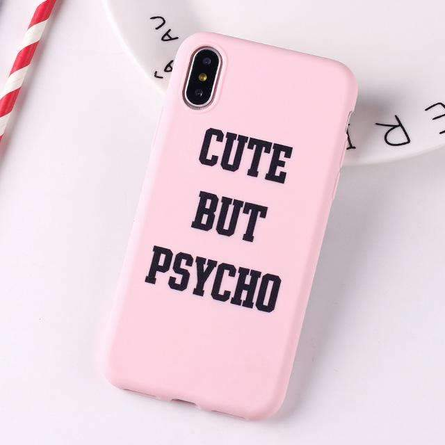 Coque Psycho rose iPhone