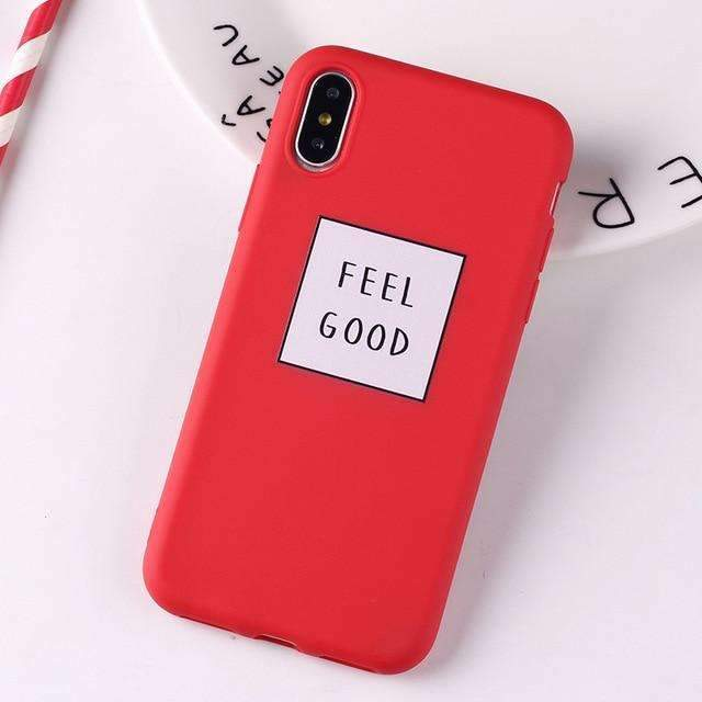 Coque Feel good Rouge iPhone