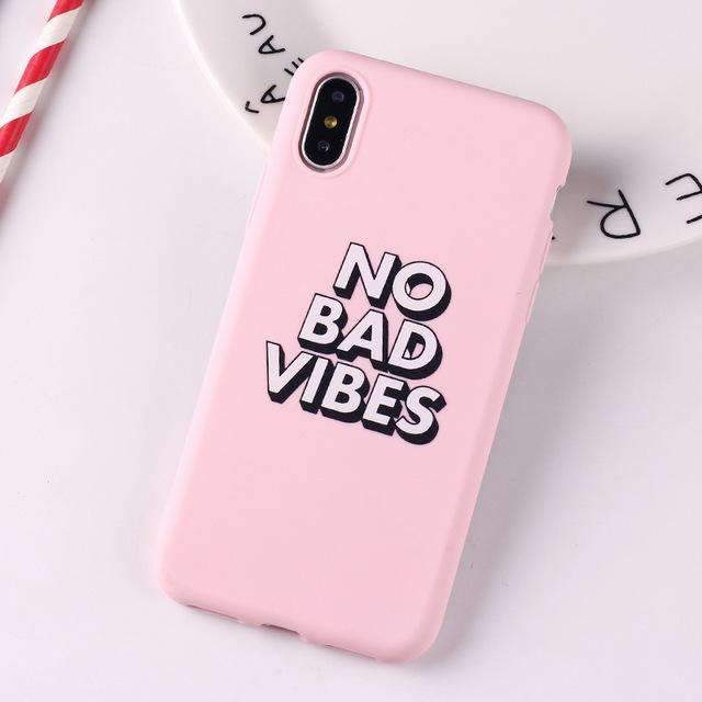 Coque Vibes Rose iPhone
