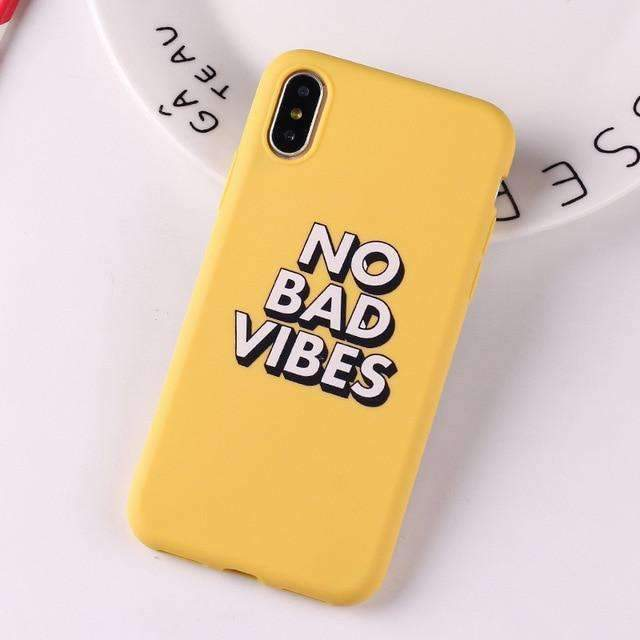 Coque Vibes jaune iPhone
