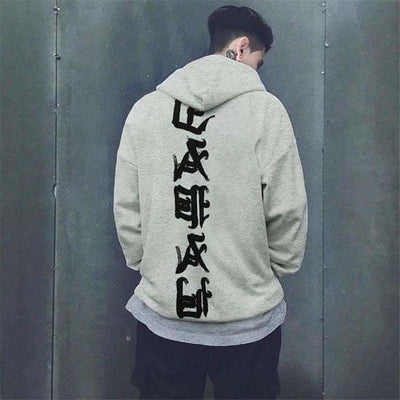 Sweat Hoodie CHINAZON - Gris / S