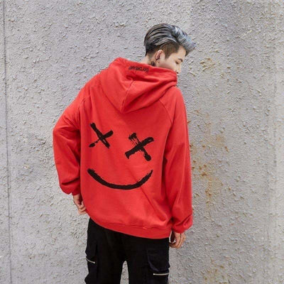 Sweat Hoodie SMILE - Rouge / S