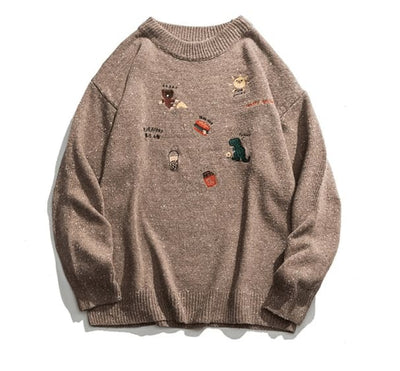 SWEAT ICON - MARRON / M