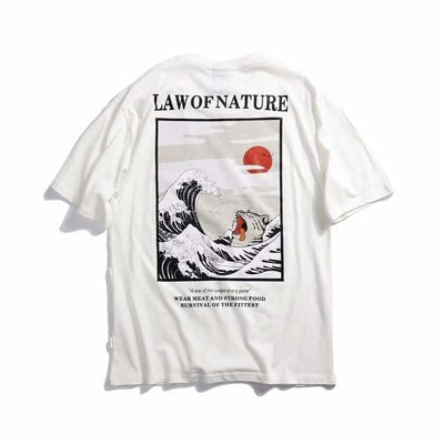T-shirt imprimé LAW OF NATURE - Blanc / M