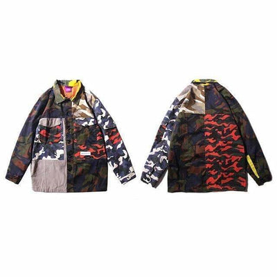VESTE PATCH CAMO - M