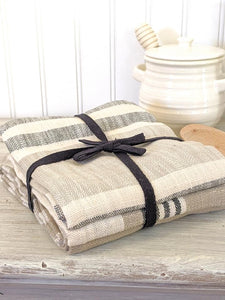 Cotton Striped Towels Set/3