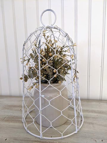 White Wire Cloche