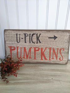 Pumpkin Wood Sign