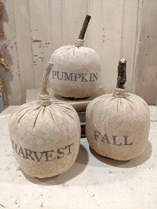 Fabric Pumpkins Set/3