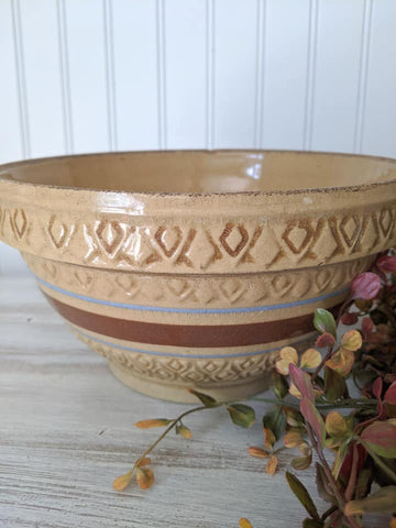 Yellow Ware Stoneware Bowl