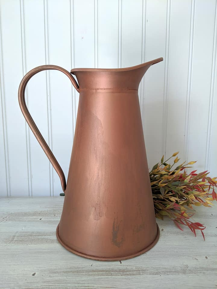 Weathered Copper Pitcher