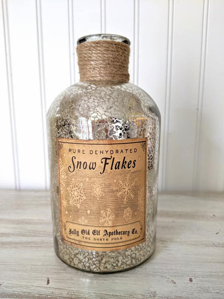 Snowflakes Silver Bottle