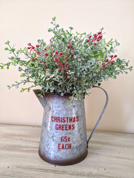 Christmas Greens Pitcher