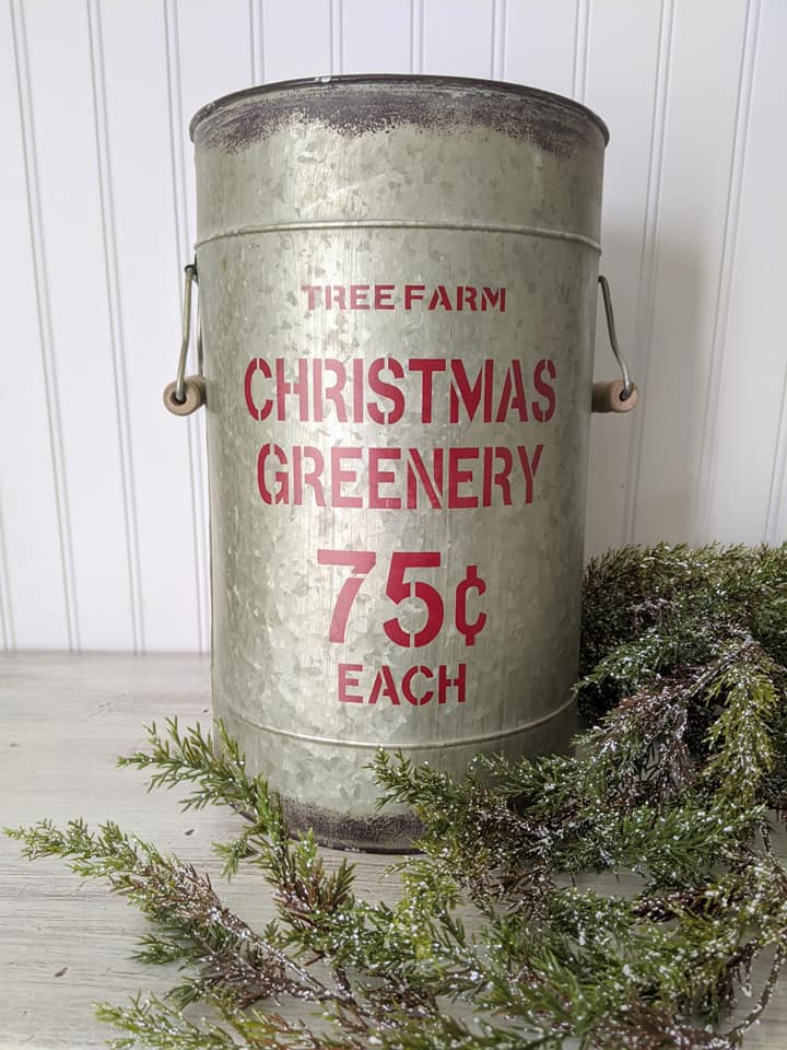 Christmas Greenery Bucket