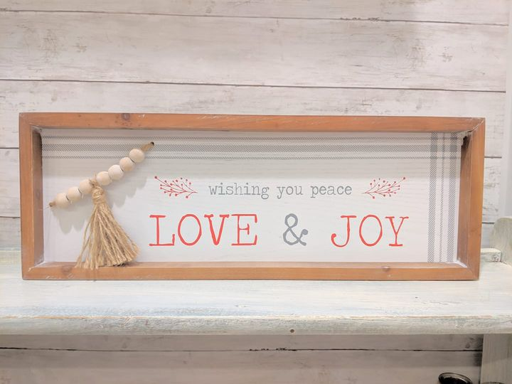 Peace, Love, Joy Sign