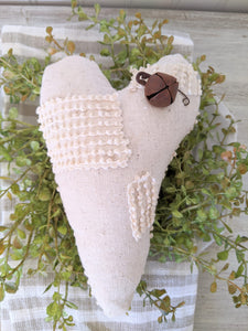 Vintage Chenille Heart with Patches