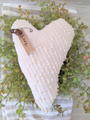 Vintage Chenille Heart with Tag