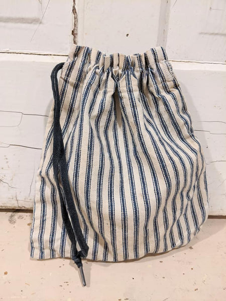 Vintage Drawstring Bag & Clothes Pins