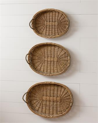 Willow Baskets with Beaded Handles