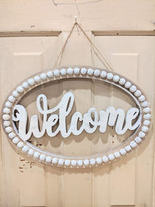 Welcome Beaded Sign