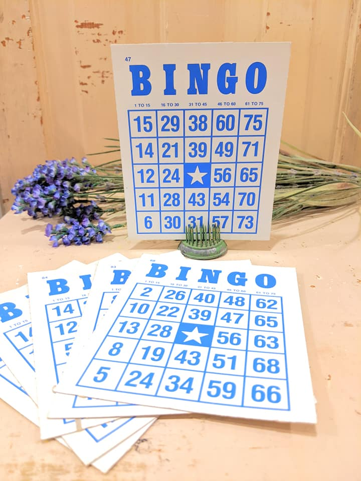 Vintage Bingo Cards Set/3