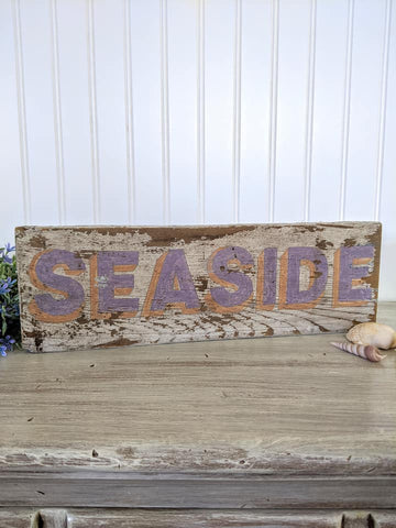 Seaside Barnwood Sign