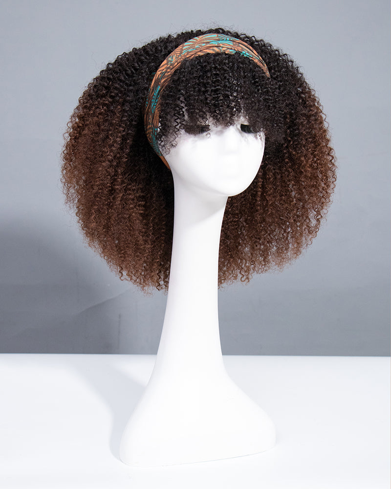 Brown Your Coils Ends Headband Wig-HBWIG19