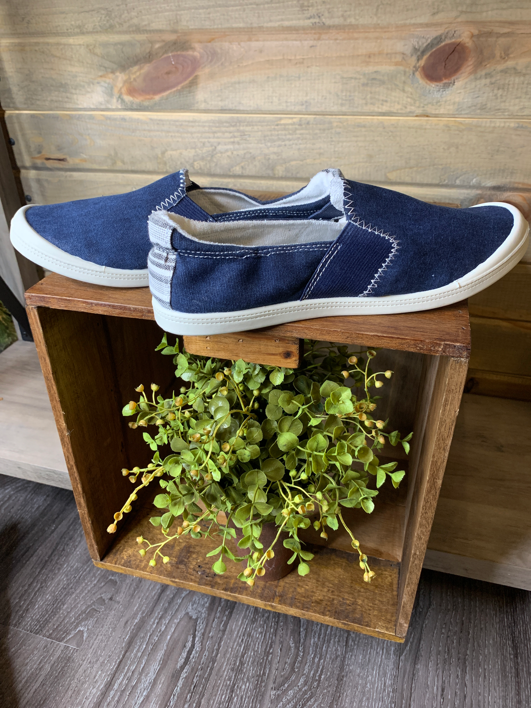Classic Blue Denim Slip On Sneaker
