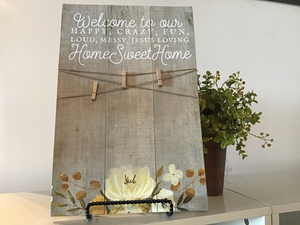 Home Sweet Home Picture Clip Decor