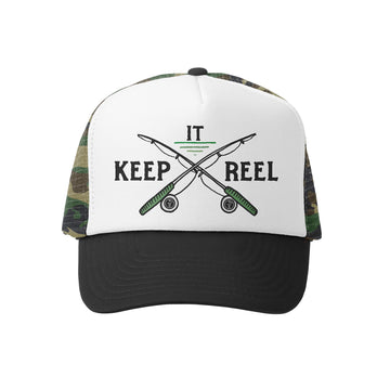 Grom Squad Kid's Trucker Hat - Camo & White - Keep It Reel