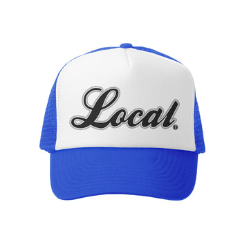 Grom Squad Kid's Trucker Hat - Royal & White - Local