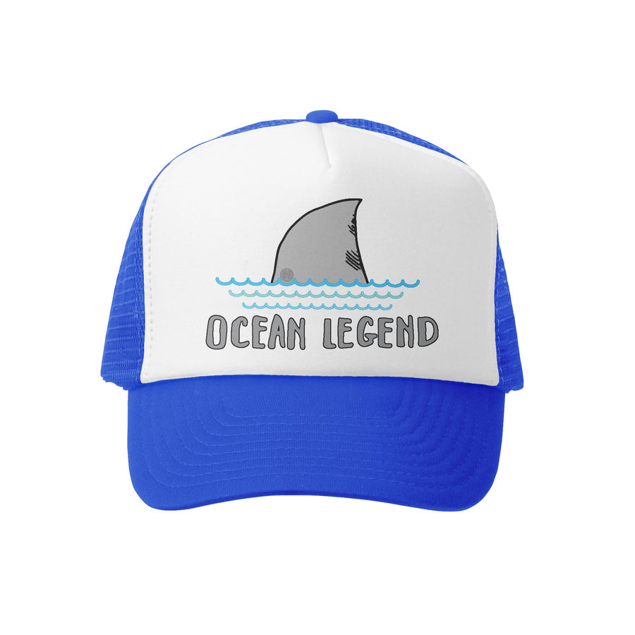 Grom Squad Kid's Trucker Hat - Royal & White - Ocean Legend