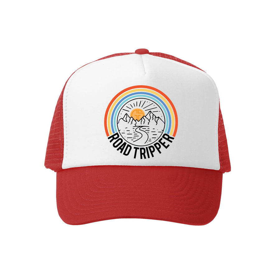 Kids Trucker Hat - Road Tripper in Red and White