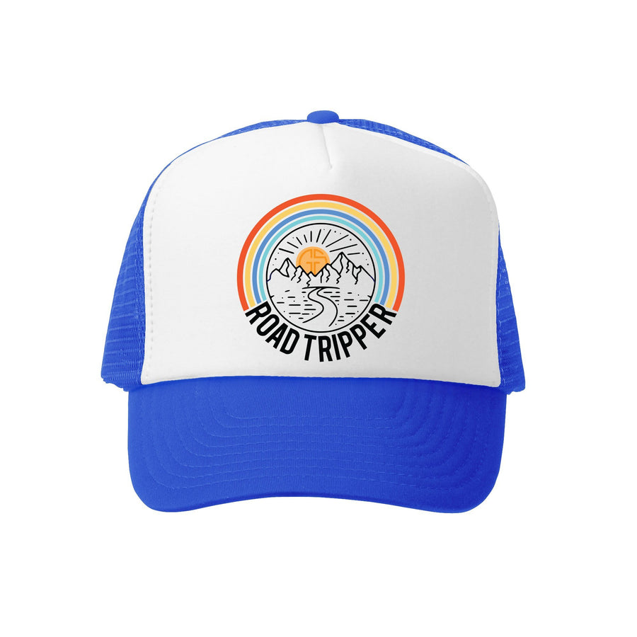 Kids Trucker Hat - Road Tripper in Royal and White