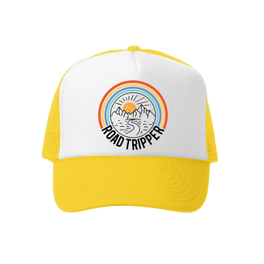 Kids Trucker Hat - Road Tripper in Yellow and White
