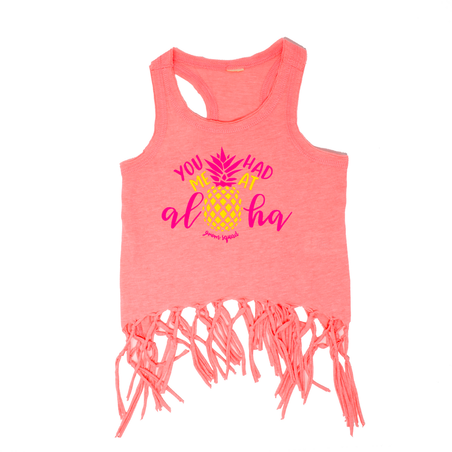 Grom Squad You Had Me At Aloha Tank Top in Mango