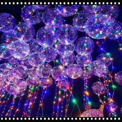 Powered By Button Batteries Led Balloon Air Balloon String Lights Round Bubble Helium Balloons Kids Toy Wedding Party