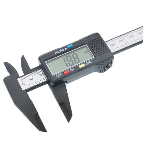 150mm LCD Digital Electronic Carbon Fiber Vernier Caliper Gauge Micrometer Measuring Tool