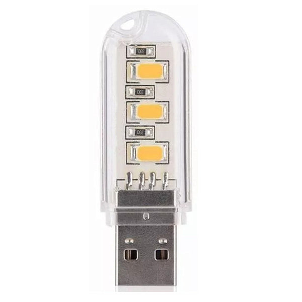 3 LED Mini Portable USB LED Night Light Powered Camping Lamp