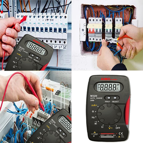 AIMOMETER M320 Digital Multimeter DMM Auto Range 4000 Counts Ammeter Voltmeter Ohmmeter with Capacitance Frequency Test